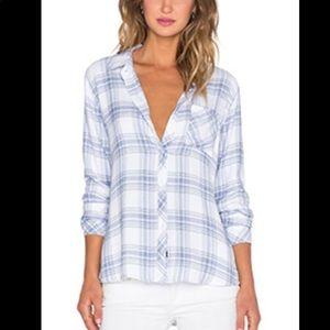Rails Light Blue and White Plaid Soft Flannel